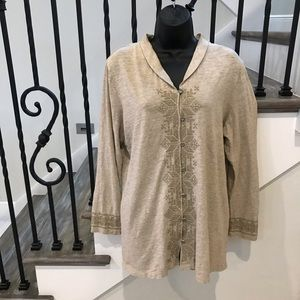 J. Jill knit Long Sleeved button down  blouse